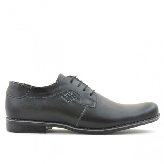 Men stylish, elegant, casual shoes 730 black