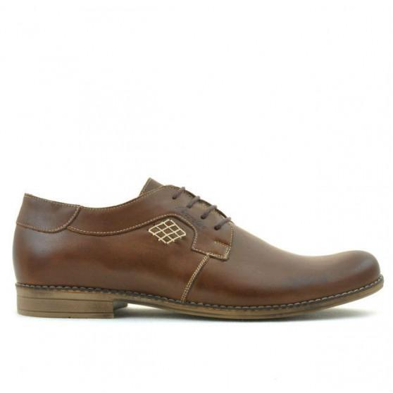 Men stylish, elegant, casual shoes 730 brown