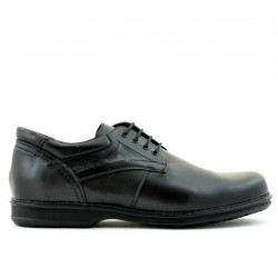 Men stylish, elegant, casual shoes 854 black