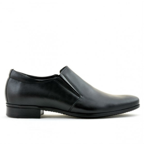 Men stylish, elegant shoes 741 black