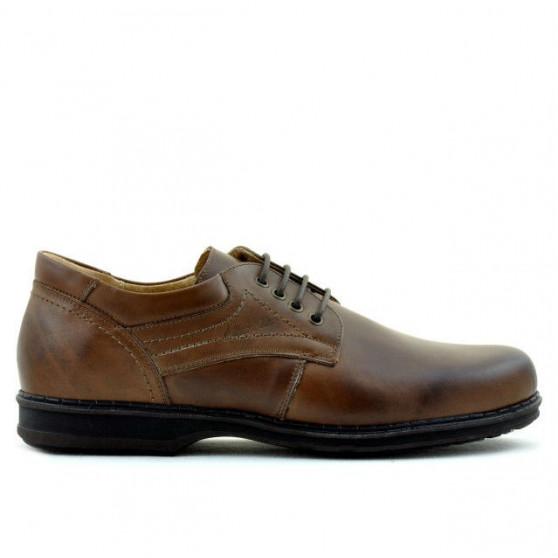 Men stylish, elegant, casual shoes 854 brown