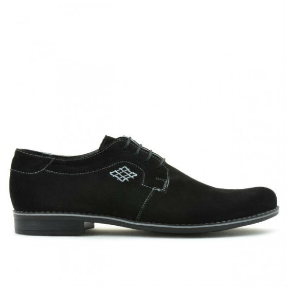 Men stylish, elegant, casual shoes 730 black velour