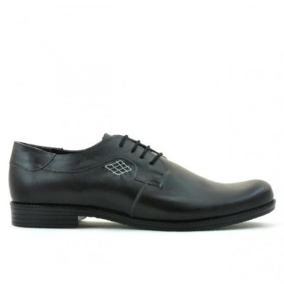 Men stylish, elegant, casual shoes (large size) 730m black