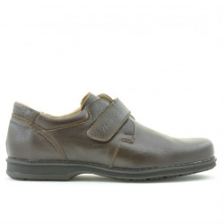 Men stylish, elegant, casual shoes 854sc brown scai