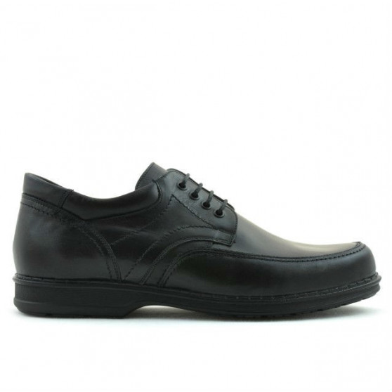 Men stylish, elegant, casual shoes 855 black