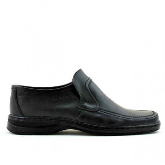 Men stylish, elegant shoes 969 black