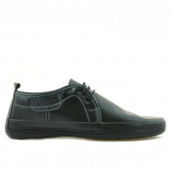 Men loafers, moccasins 865 black+gray