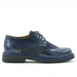 Pantofi casual dama 663 lac indigo combinat