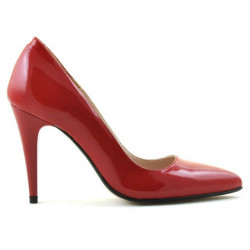 Women stylish, elegant shoes 1246 patent red