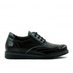Pantofi copii 154 lac negru combinat