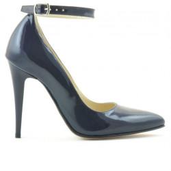 Women stylish, elegant shoes 1247 patent indigo