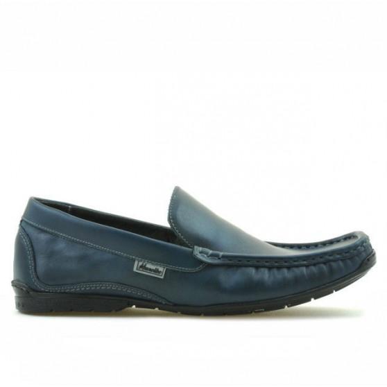 Men loafers, moccasins 813 indigo