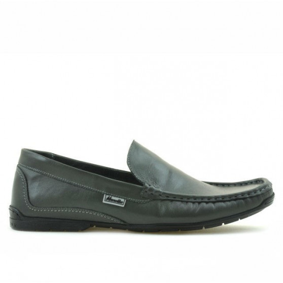 Men loafers, moccasins 813 gray