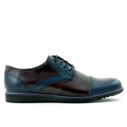 Men casual shoes 811 indigo+bordo