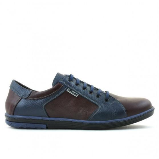 Men sport shoes 869 indigo+bordo