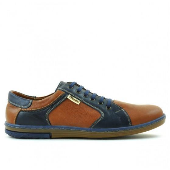 Men sport shoes 869 brown+indigo