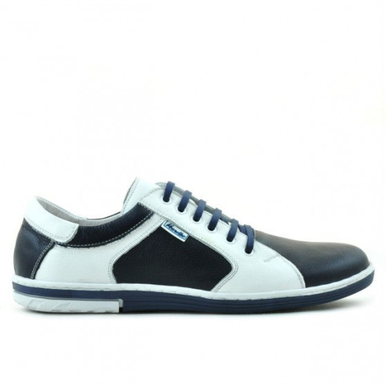 Men sport shoes 869 indigo+white