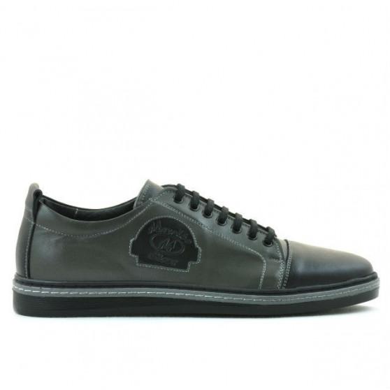 Men casual, sport shoes 766 black+gray
