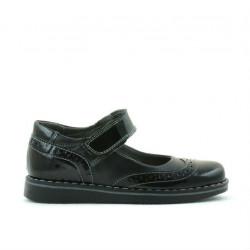 Pantofi copii mici 56c lac negru combinat