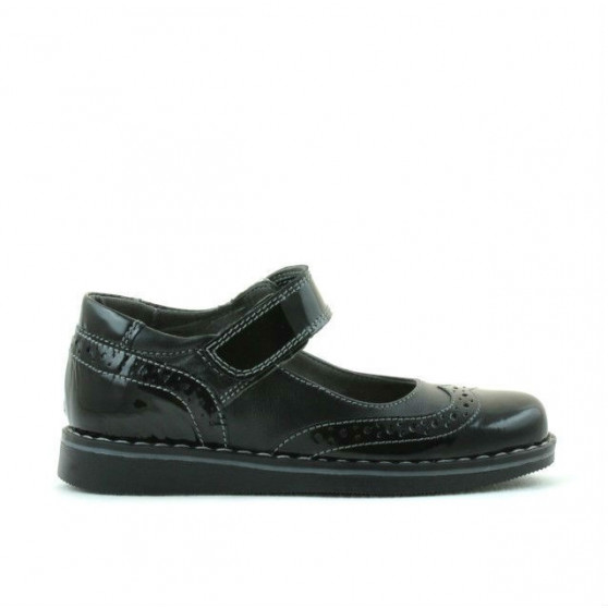 Small children shoes 56c patent black combined