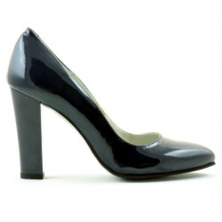 Women stylish, elegant shoes 1214 patent indigo