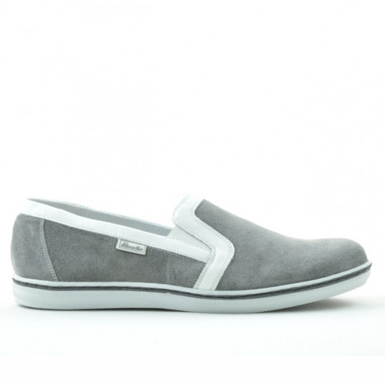 Men casual shoes 870 gray velour