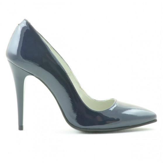 Women stylish, elegant shoes 1241 patent indigo