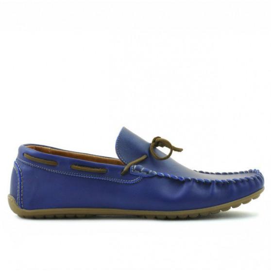 Men loafers, moccasins 863 indigo