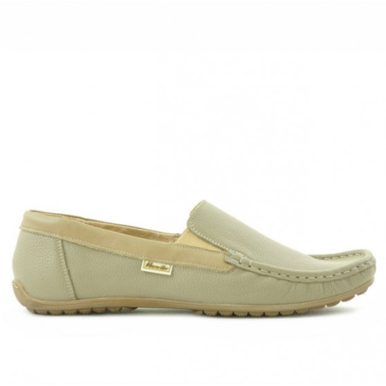 Men loafers, moccasins 777 cappuccino