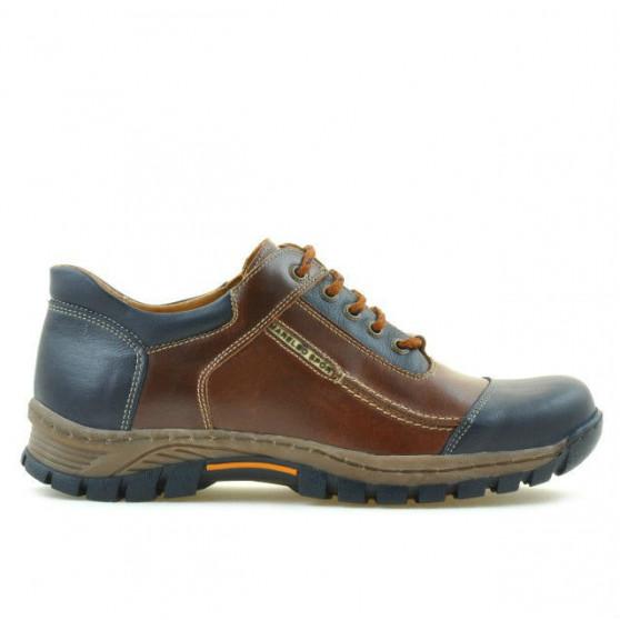 Men sport shoes 852 brown+indigo