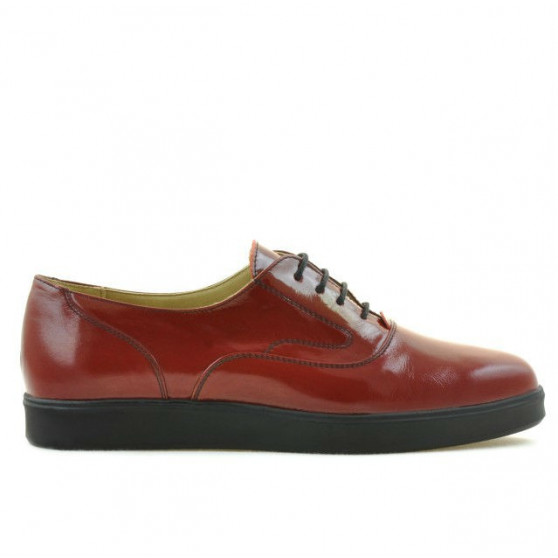 Women casual shoes 664 patent burgundy