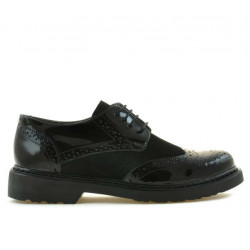 Women casual shoes 663 patent black combined
