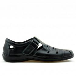 Men loafers, moccasins 819 black