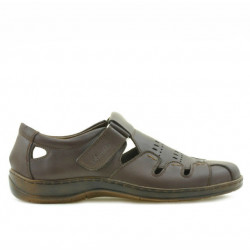 Men loafers, moccasins 819 brown