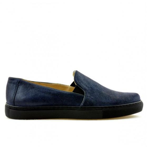 Women sport shoes 658 indigo satin