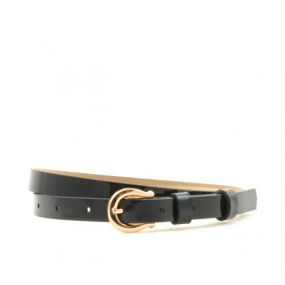 Women belt 04m patent black
