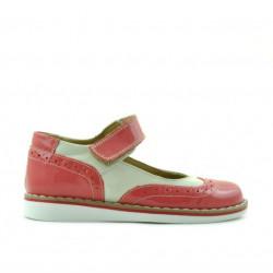 Pantofi copii mici 56c lac roz+bej