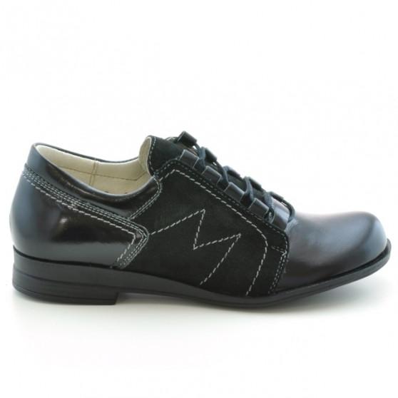 Pantofi casual dama 608 lac negru combinat