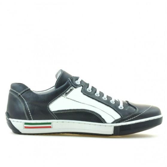 Men sport shoes 707 indigo+white