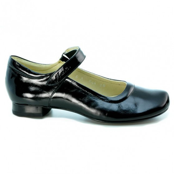 Women casual shoes 644 patent black