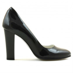 Women stylish, elegant shoes 1214 patent black