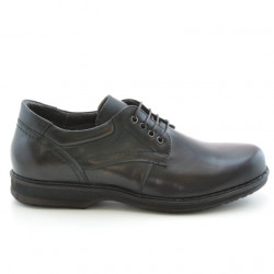 Men stylish, elegant, casual shoes 854 a brown