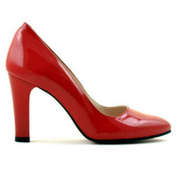 Women stylish, elegant shoes 1243 patent red