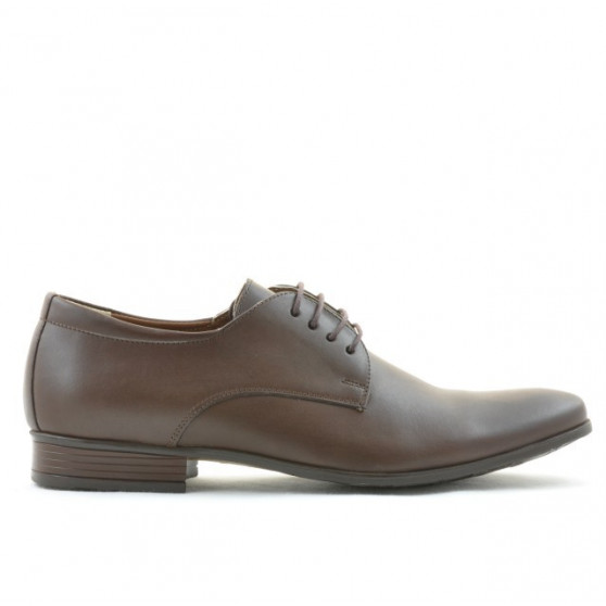 Men stylish, elegant shoes 786 brown