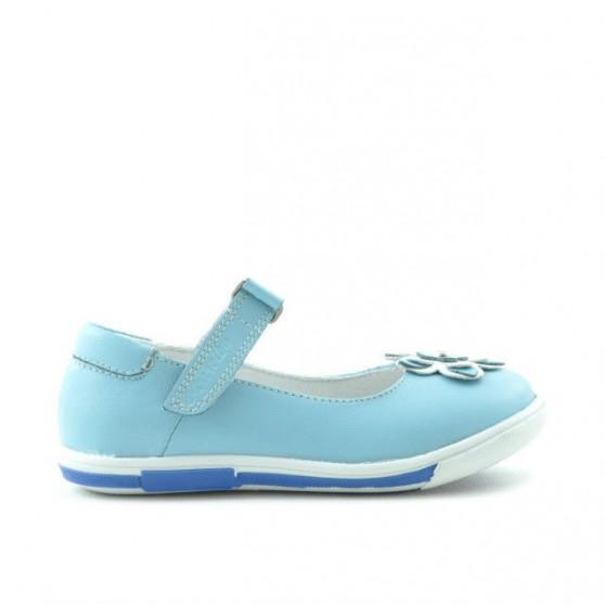 Small children shoes 06c bleu+white