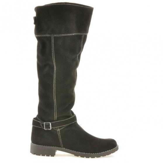 Women knee boots 3225 cafe velour