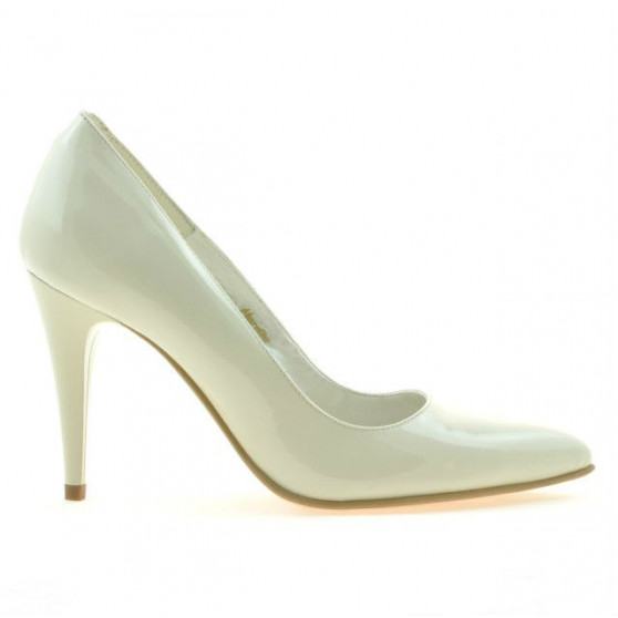 Women stylish, elegant shoes 1246 patent beige01