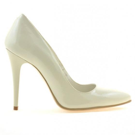 Women stylish, elegant shoes 1241 patent beige01