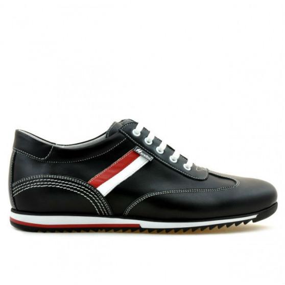 Men sport shoes 807 black+white