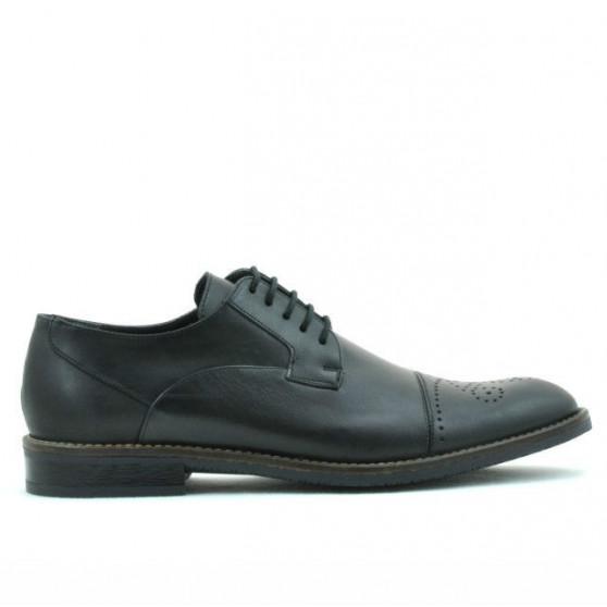 Men stylish, elegant shoes 814 black